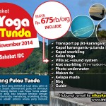 Jejak IDC November 2014, Open Trip Yoga di Pulau Tunda (CLOSED)